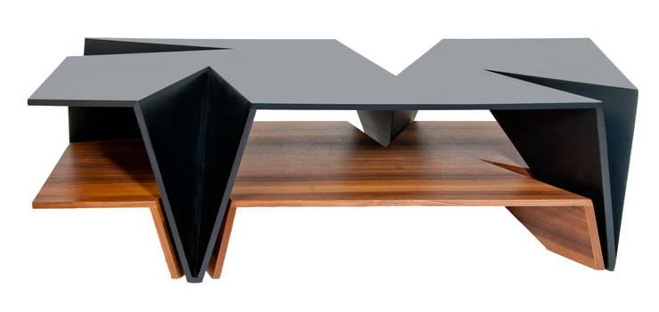 Mesa Origami: Salas de estilo  por TALLER R
