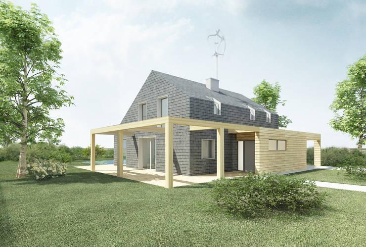 MAISON ZERO-ENERGIE: Maison de style  par GRUPA HYBRYDA