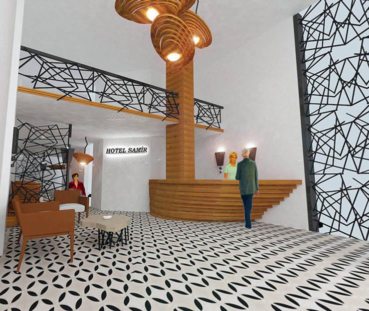 MAHAL MİMARLIK / MAHAL ARCHITECTS – SAMİR OTEL CEPHE VE İÇ MEKAN YENİLEME PROJESİ:  tarz Yatak Odası,