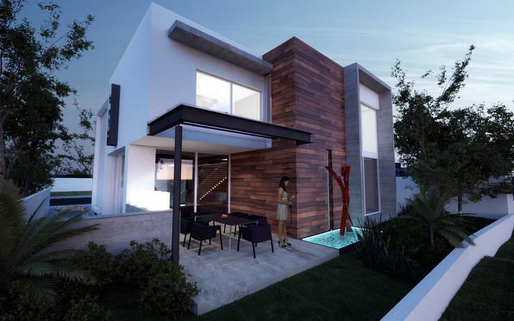 CASA MADEIRA: Casas de estilo  por ALONSO ARQUITECTOS