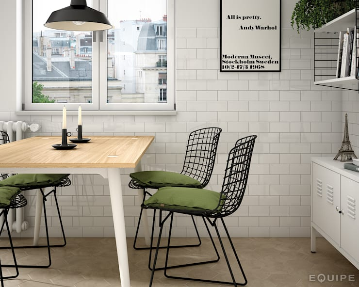 modern Dining room by Equipe Ceramicas