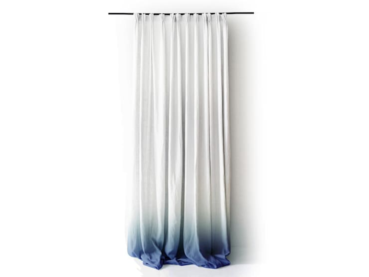 Blue Ombre curtains and cushions by Lovely Home Idea:  Windows & doors  by LOVELY HOME IDEA