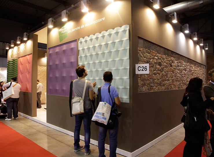 Wall Design Plus: Pareti & Pavimenti in stile  di Decor srl
