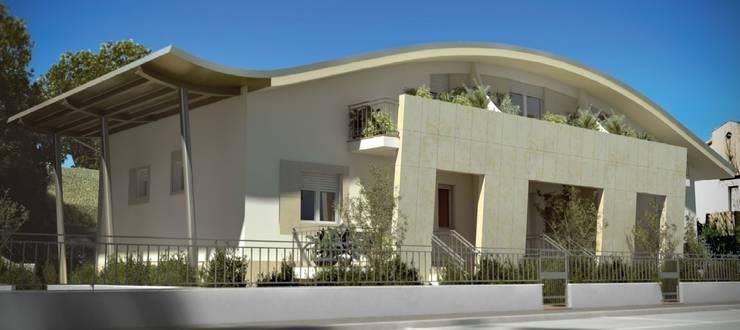 nuovo edificio plurifamiliare: Case in stile  di Calabrese & Iozzi Architetti Associati, Moderno