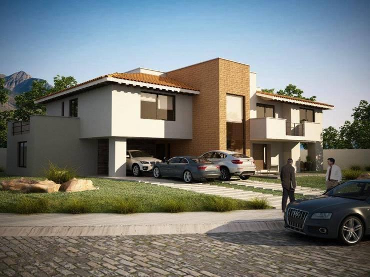 DIANA NATURA: Casas de estilo moderno por ALONSO ARQUITECTOS