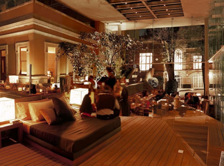 Casa Lamm: Salas de estilo  por Serrano Monjaraz Arquitectos
