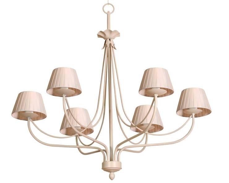 Lámpara clásica 6 luces Giselle: Dormitorios de estilo  de Ámbar Muebles