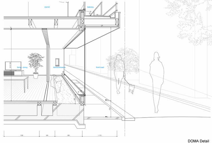中野南台の家 The house of Nakano wooden fire-resistance: 荻原雅史建築設計事務所 / Masashi Ogihara Architect & Associatesが手掛けたです。