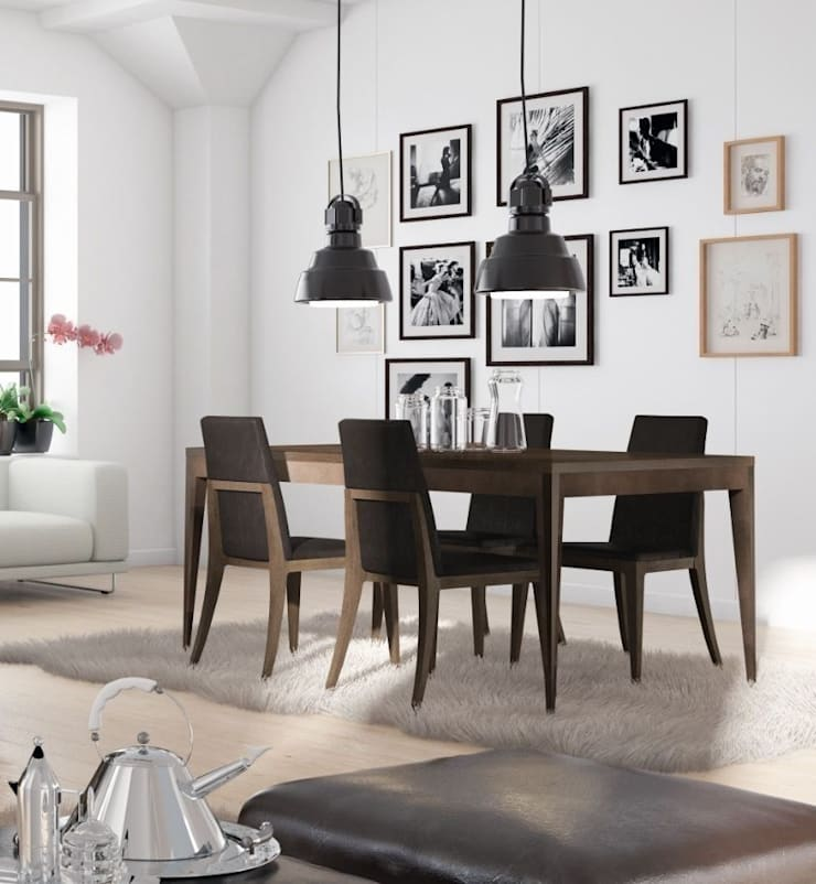 Mesa de Comedor Extensible Escandinava: Comedor de estilo  de Paco Escrivá Muebles
