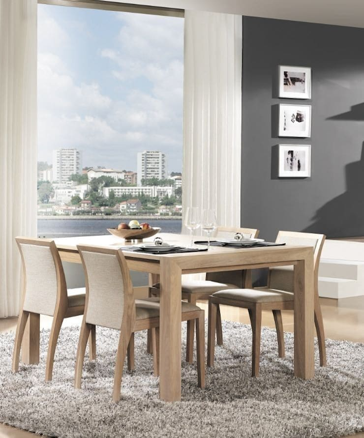 Mesa de Comedor Nórdica Forest A: Comedor de estilo  de Paco Escrivá Muebles