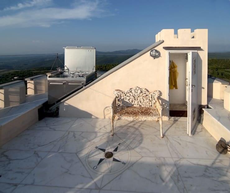 Terrazza: Balcone, Veranda & Terrazzo in stile  di Archipiu+