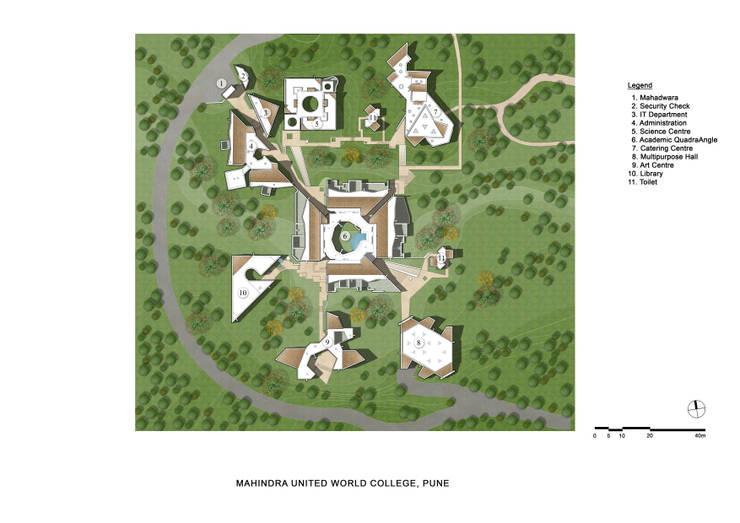 Academic Block Site Plan:   by Christopher Charles Benninger Architects Pvt. Ltd.