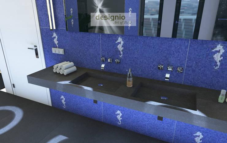Starke Akzente – das Bad darf ruhig etwas laut werden:  Badezimmer von Art of Bath,