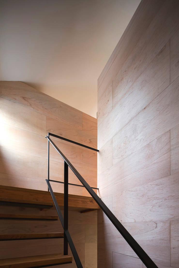 上大野の家: 川添純一郎建築設計事務所が手掛けた廊下 & 玄関です。,