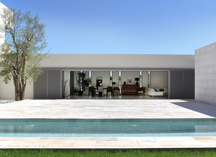 Intérieur / extérieur: Maisons de style  par Hamerman Rouby Architectes