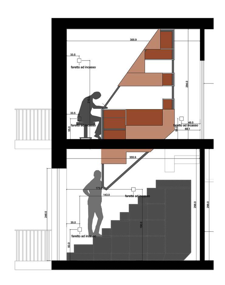 SEZIONE SU SCALA:  in stile  di BLA! UFFICIO DI ARCHITETTURA, Moderno
