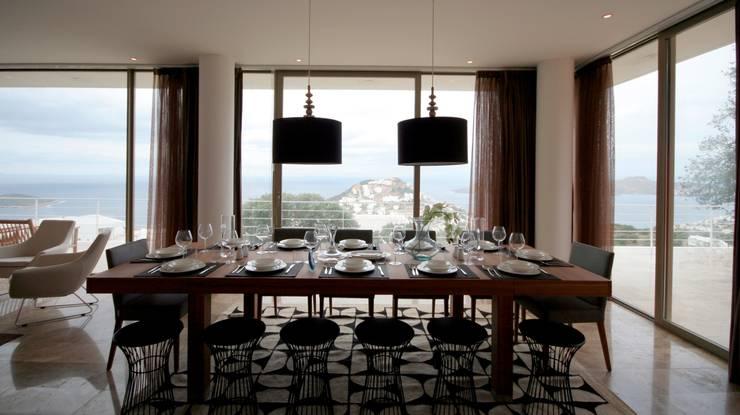 HANDE KOKSAL INTERIORS – House C3 – C3 Evi:  tarz Yemek Odası