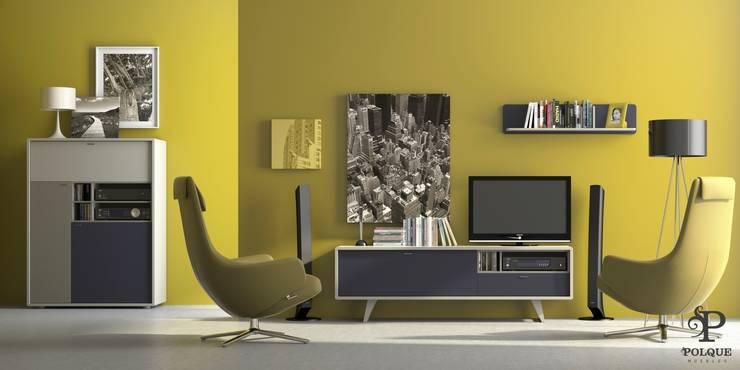 Salón NORDIC 4: Salones de estilo  de Mobiliario y Decoración