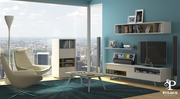 Salón NORDIC 1 - ESCANDINAVIA: Salones de estilo  de Mobiliario y Decoración