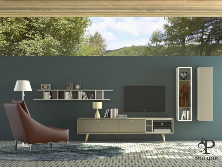 Salón NORDIC 3: Salones de estilo  de Mobiliario y Decoración