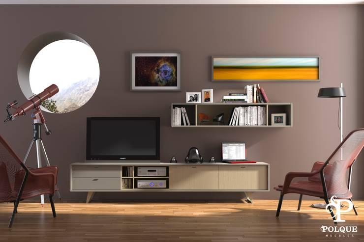 Salón NORDIC 6: Salones de estilo  de Mobiliario y Decoración