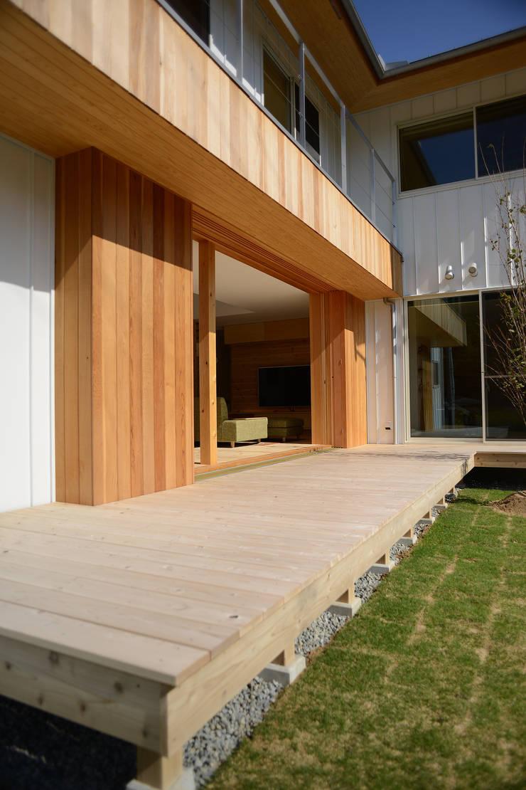 彦崎の家: ARTBOX建築工房一級建築士事務所が手掛けた庭です。