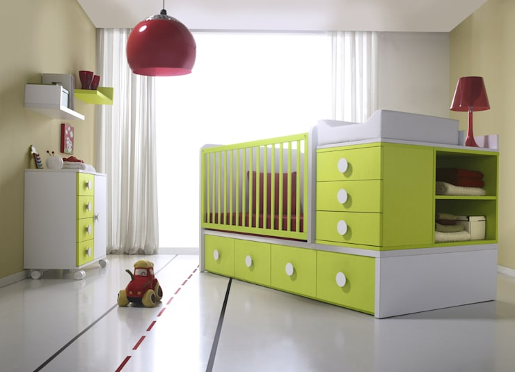 modern Nursery/kid's room by MUEBLES ORTS