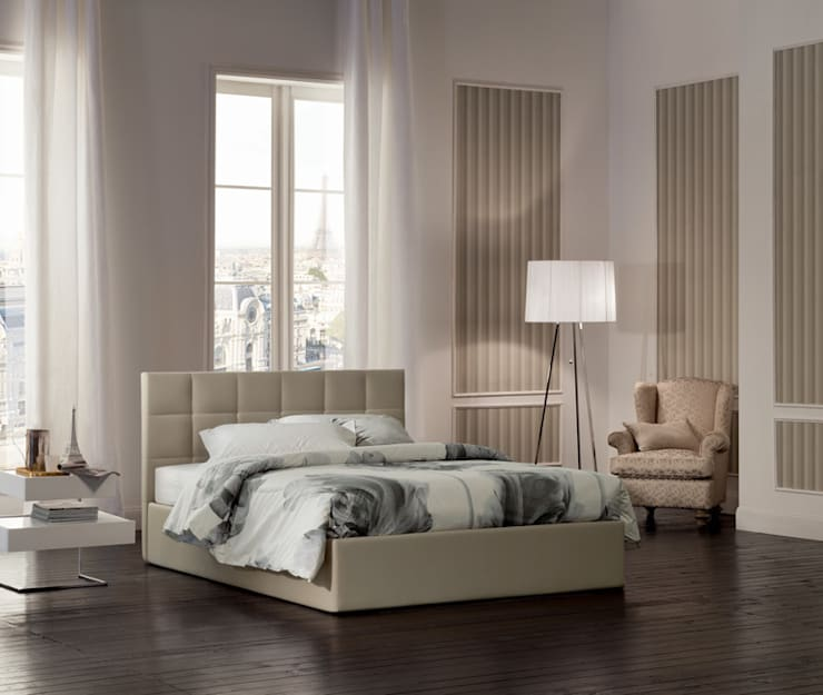 FORCE COLLECTION: Camera da letto in stile  di OGGIONI - The Storage Bed Specialist