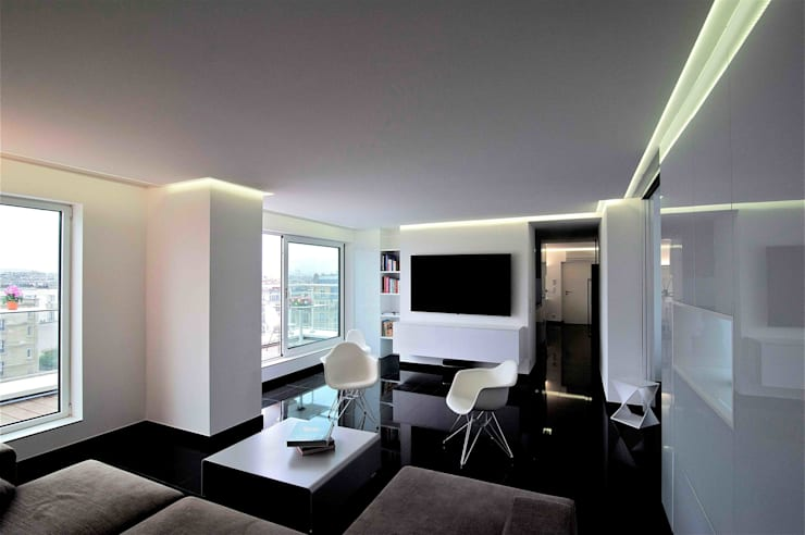 Living room by Architekturbüro Rollmann&Partner