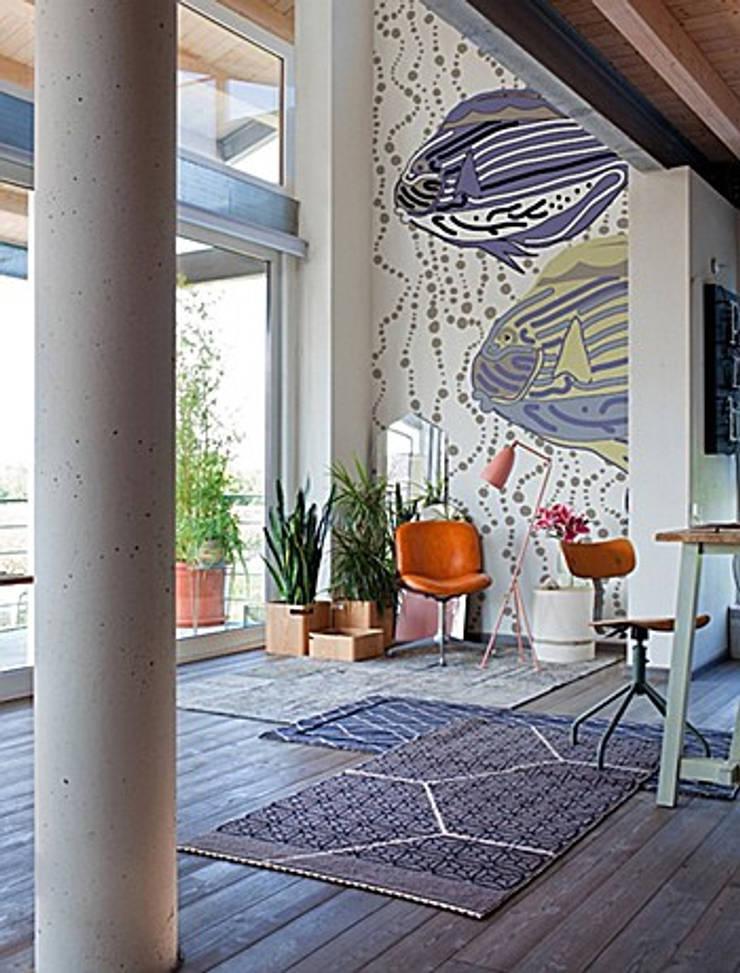 PAPIER PEINT – création et tendance: Murs & Sols de style  par Talva D.