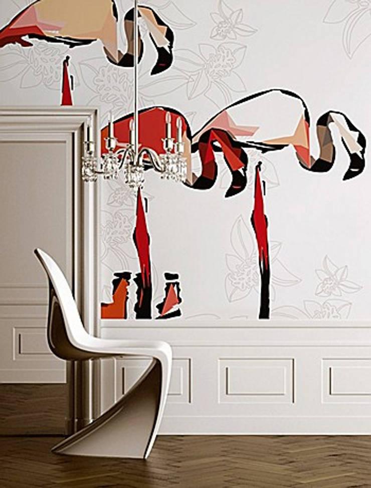 PAPIER PEINT - création et tendance: Murs & Sols de style  par Talva D.