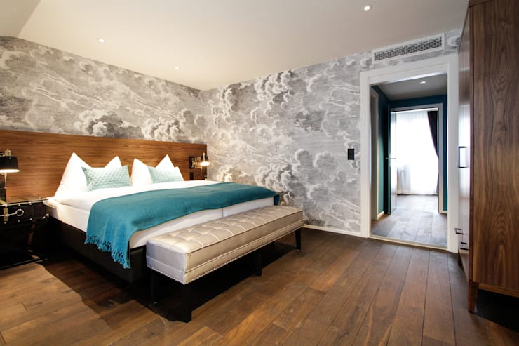 Hotel City, Zurich:  Bedroom by Dyer-Smith Frey