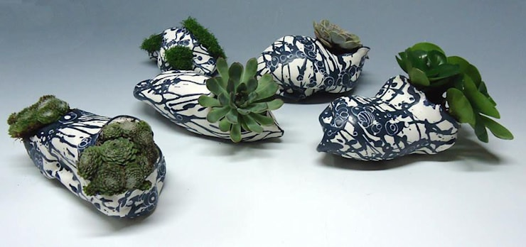 BLEU - végètal // graine jardinière: Art de style  par  ALEXANDRA TOLLET