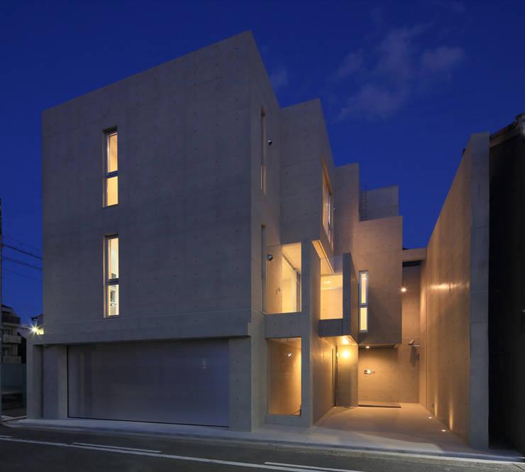 外観南西面夕景: 川島建築事務所が手掛けたです。