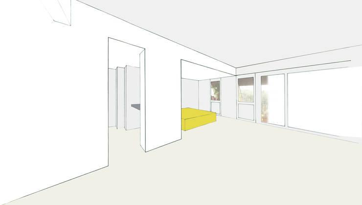 Rue de Crimée: Salon de style  par bandapar architecture +++