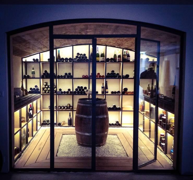 modern Wine cellar by De-Design