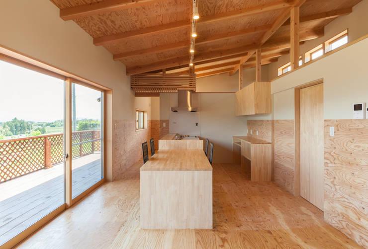 愛犬と暮らす家: 株式会社 哲・Braveデザイン工房が手掛けたキッチンです。