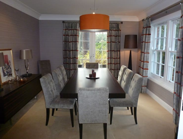 Contemporary Dining Room:  Dining room by Rachel Angel Design
