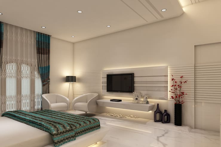 Bedroom by K Mewada Interior Designer
