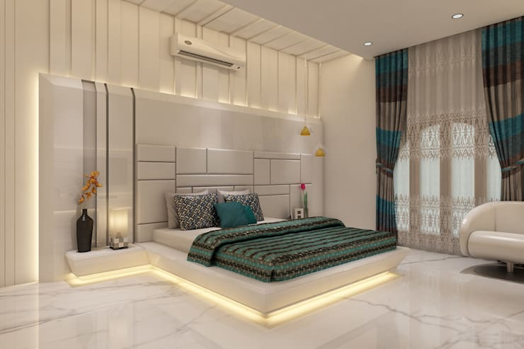 Master Bedroom:  Bedroom by K Mewada Interior Designer