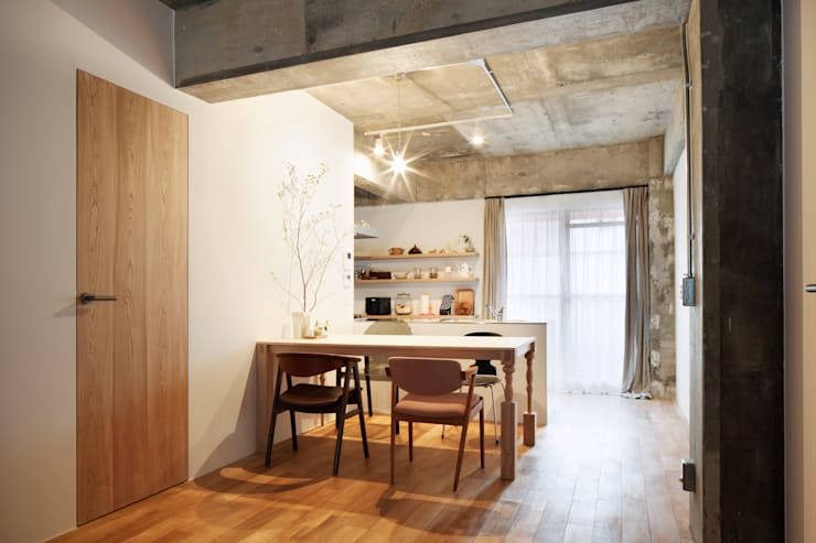 中京区の家/ダイニング: 一級建築士事務所 こよりが手掛けたダイニングです。