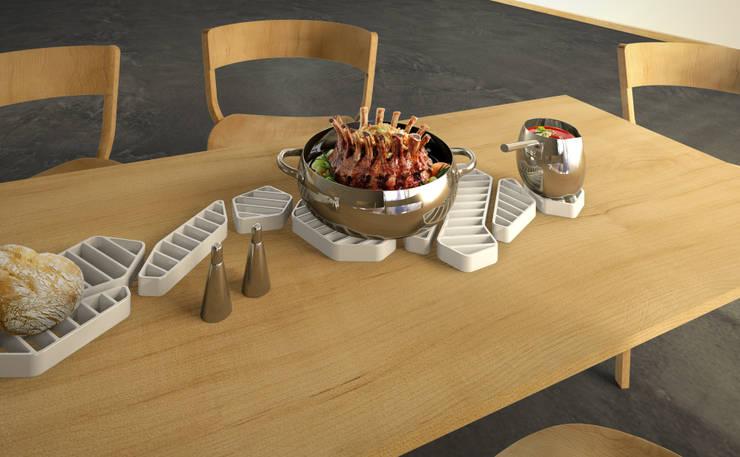 Dessous de plat: Salle à manger de style de style Moderne par Romain Giraud