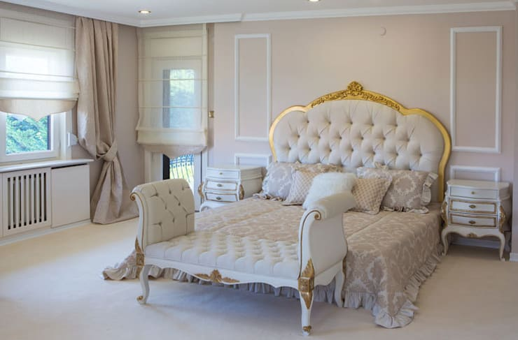 Aykuthall Architectural Interiors – YATAKBAŞI TAKIMLARI:  tarz Yatak Odası