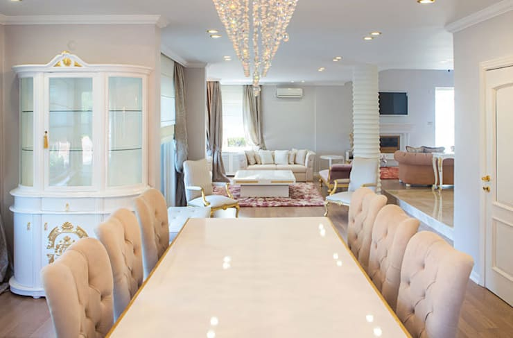 Aykuthall Architectural Interiors – YEMEK MASALARI:  tarz Yemek Odası
