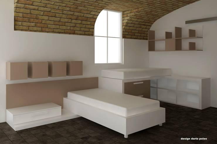 BRERA DESIGN DISTRICT: Camera da letto in stile  di Graphosds