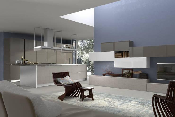 ARMONY: Cucina in stile in stile Moderno di Graphosds