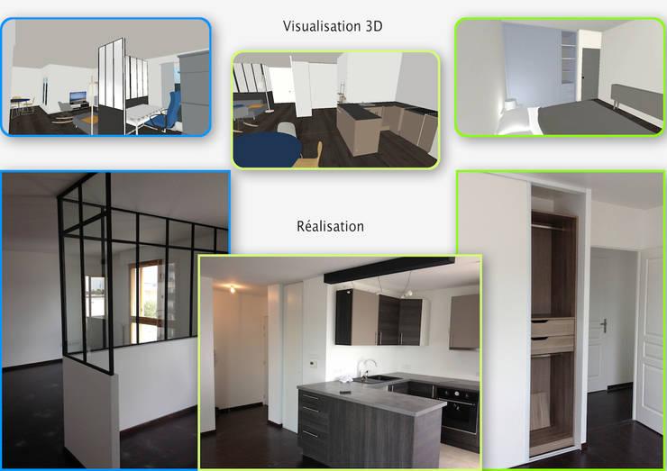 Aménagement appartement neuf: Salon de style  par Decorexpat