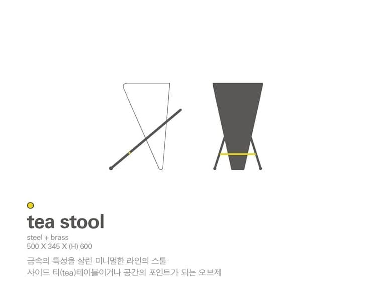 MP tea stool: Metal Play의  거실