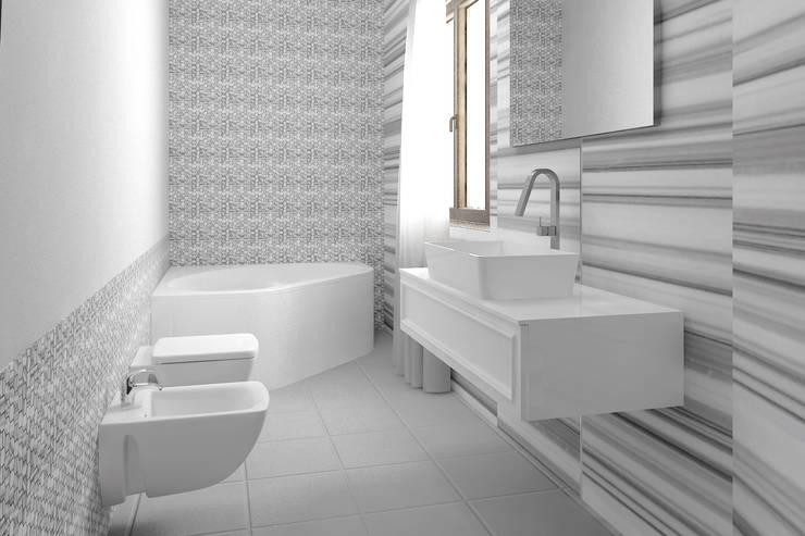 HOTEL E CONTRACT: Camera da letto in stile  di Graphosds