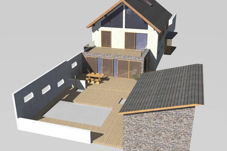 Rénovation et extension :  de style  par Urban log/in
